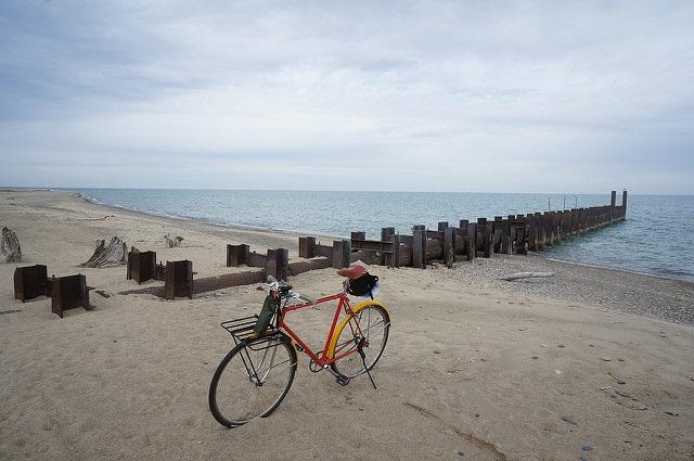Vélo plage Atlantique