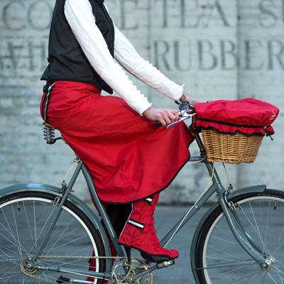 jupe de pluie rainwrap pour cycliste à velo
