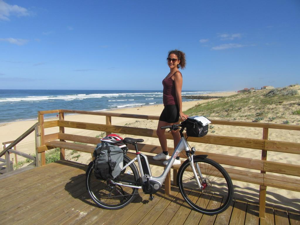 landes à vélo entre arcachon et biarritz-océan