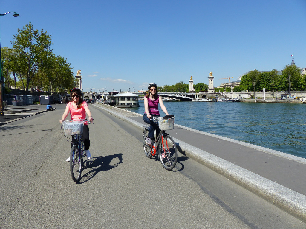 berges de la Seine à vélo
