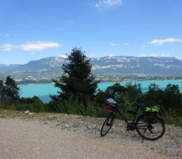 Panorama ViaRhôna - lac du Bourget
